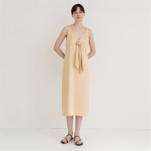 [노타] natural drop ribbon long dress_vintage YE