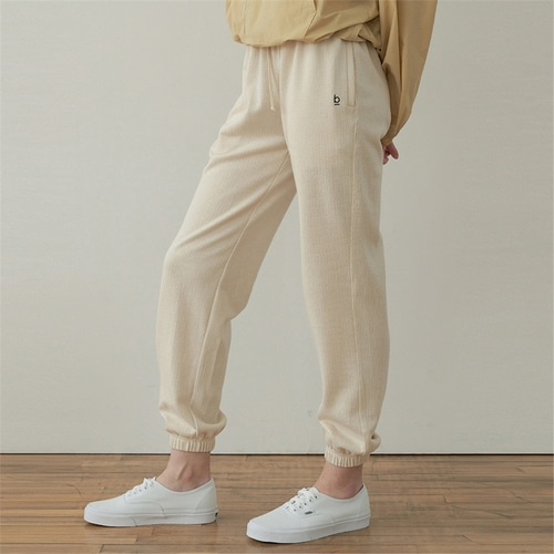 [블랭크03] cotton jogger pants_cream