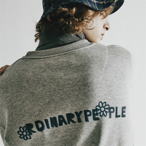 [오디너리피플] ORDINARY SIGNATURE GREY SWEATSHIRT