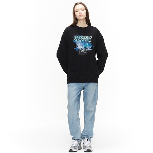 [디즈니X오디너리피플] HALLOWEEN GOOFY BLACK SWEATSHIRTS_WOMAN