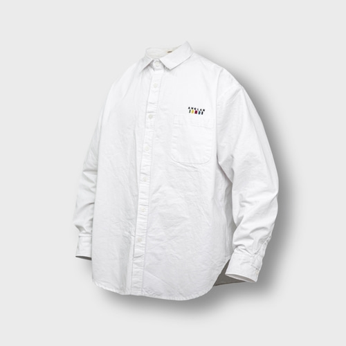 [앵글런] Oxford Wide Over Shirt - White