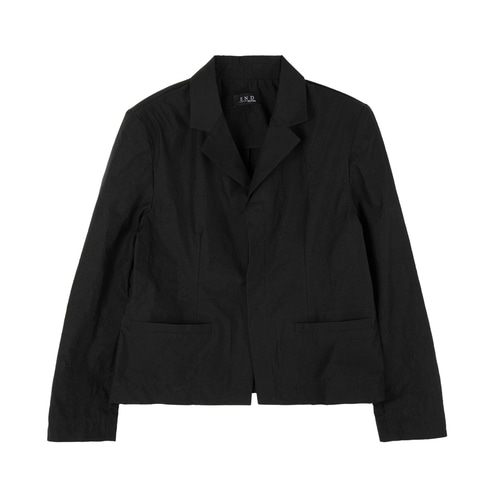 [e de] CREASE SHORT JACKET_BK