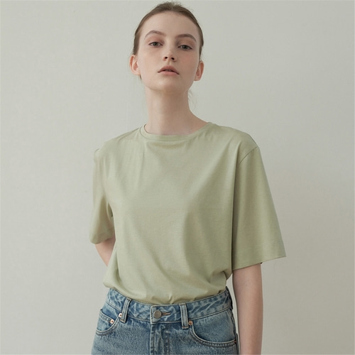 [블랭크03] cotton tencel boxy t shirt_4colors