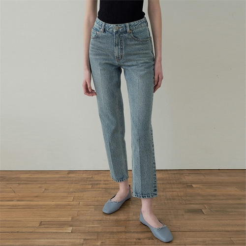 [블랭크03] cropped straight jeans_light blue