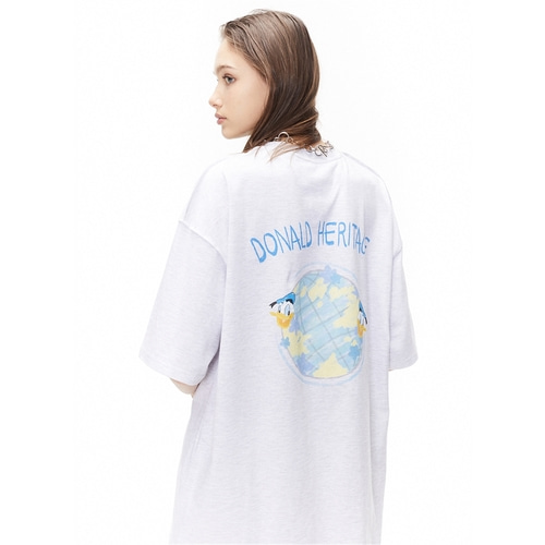 [디즈니X오디너리피플] HERITAGE DONALD DUCK MELANGE T SHIRTS_WOMAN