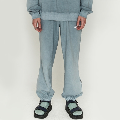 [오디너리피플] GARMENT DYING BLUEGREY LOGO SWEATPANTS_MAN