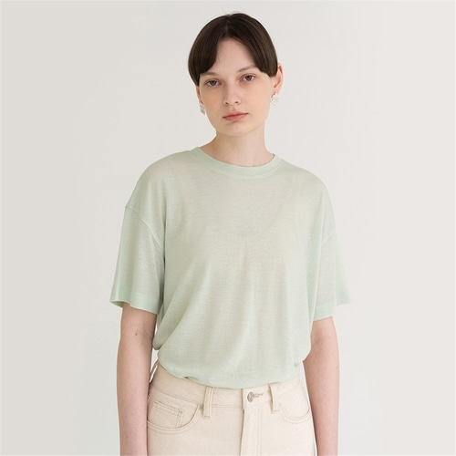 [노타] soft through t-shirt_mint