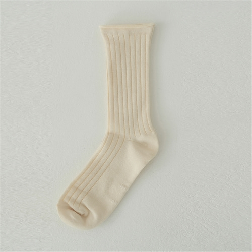 [블랭크03] cotton rib socks_3colors