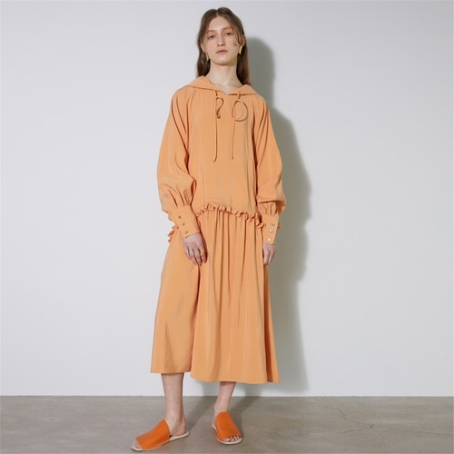 [비먼] hooded maxi dress_orange